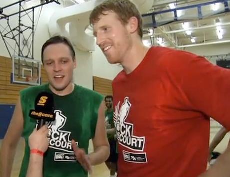 Arcade Fire Win Butler vs. San Antonio Spurs' Matt Bonner