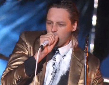 Arcade Fire 'Afterlife' / 'Flashbulb Eyes' (live on 'Kimmel')