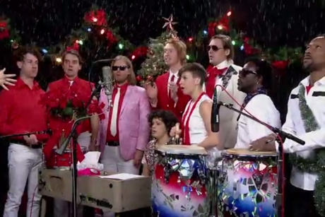 Arcade Fire 'Little Drummer Boy' (on 'Between Two Ferns')