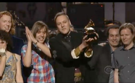 "Arcade Fire ""Ready to Start"" / ""Month of May"" (live at Grammys) (video)"