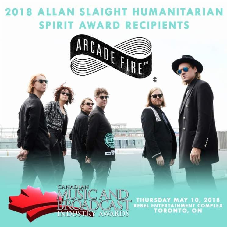 Arcade Fire Named 2018 Allan Slaight Humanitarian Spirit Award Recipients