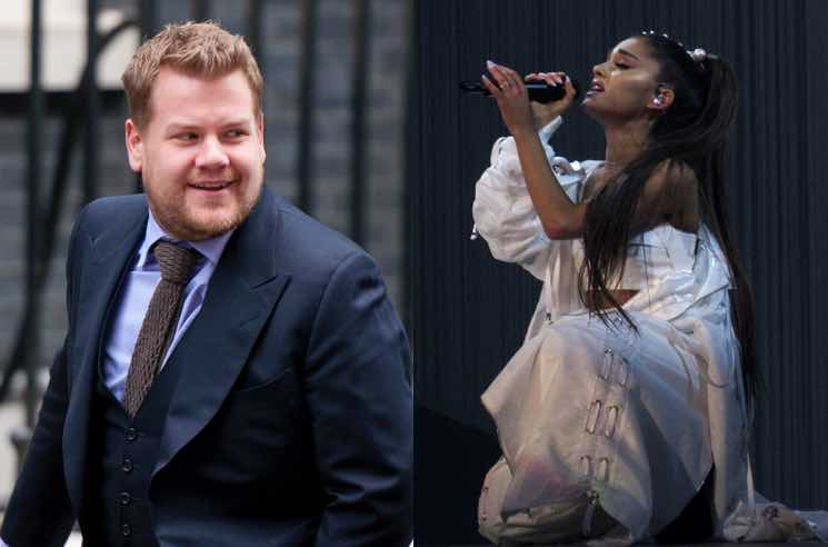 "​Ariana Grande and James Corden Tease ""Carpool Karaoke"" Segment"