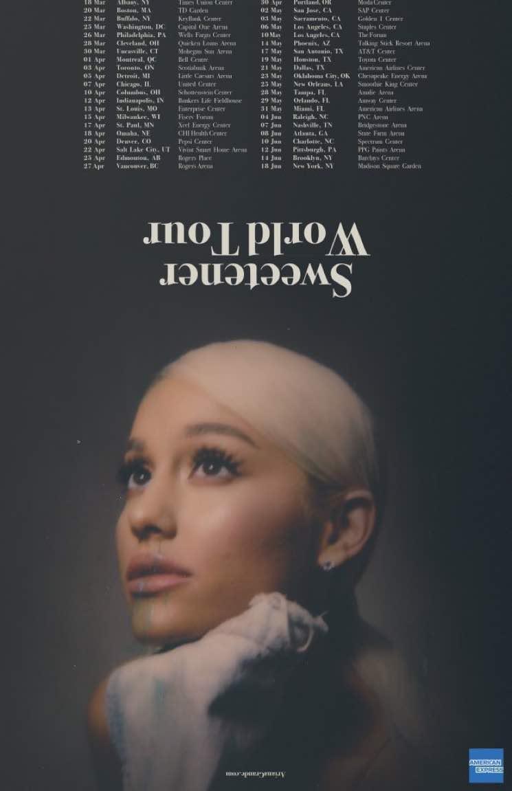 "Ariana Grande Announces ""Sweetener World Tour"""