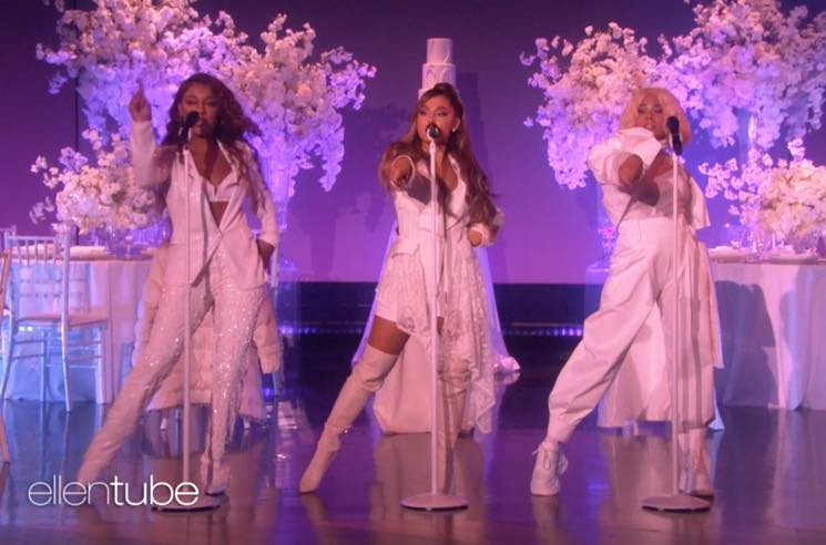 "Ariana Grande Goes Full 'First Wives Club' for ""thank u, next"" Performance on 'Ellen'"