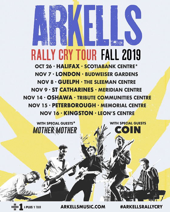 "Arkells Map Out More Canadian ""Rally Cry Tour"" Dates"