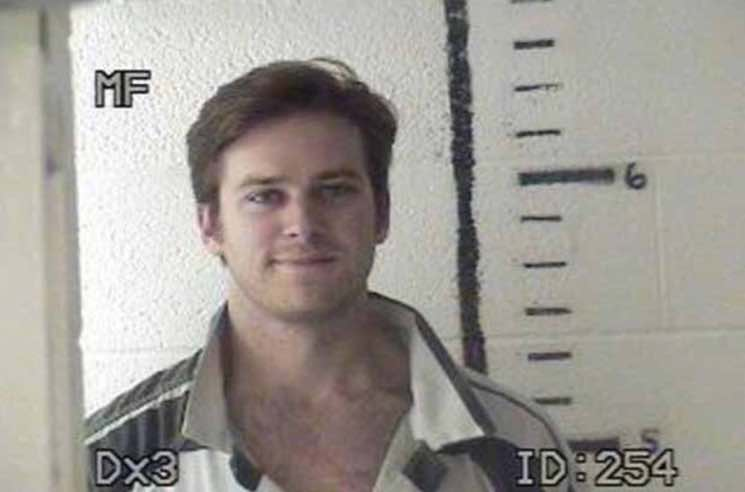 ​Armie Hammer Shares 2011 Weed Arrest Mug Shot on Instagram