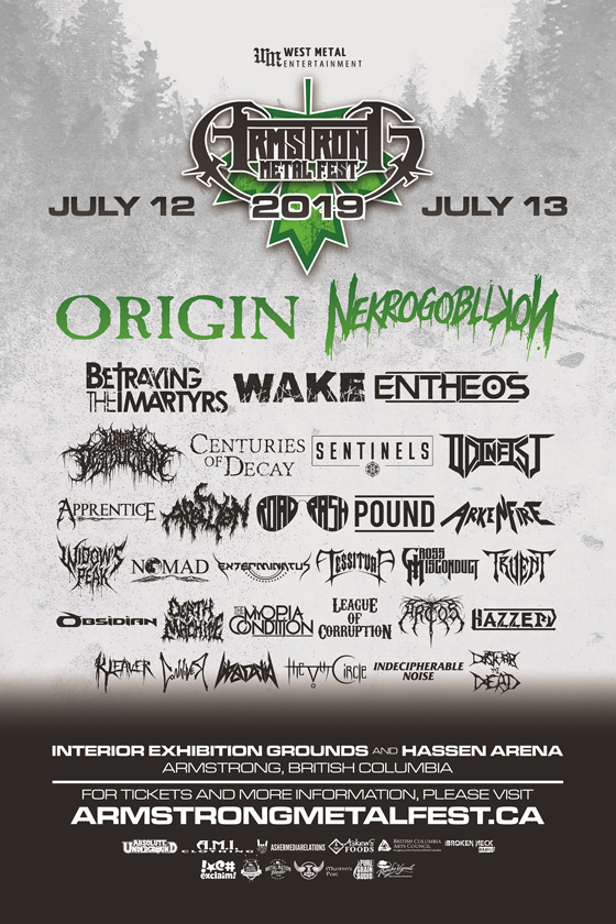 Armstrong Metal Fest Announces 2019 Lineup with Origin, Wake, Nekrogoblikon