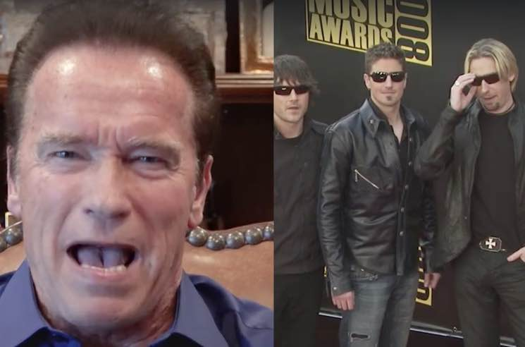Nickelback and Arnold Schwarzenegger Get into Twitter Feud (Complete with a Shitty Mr. Freeze Pun)