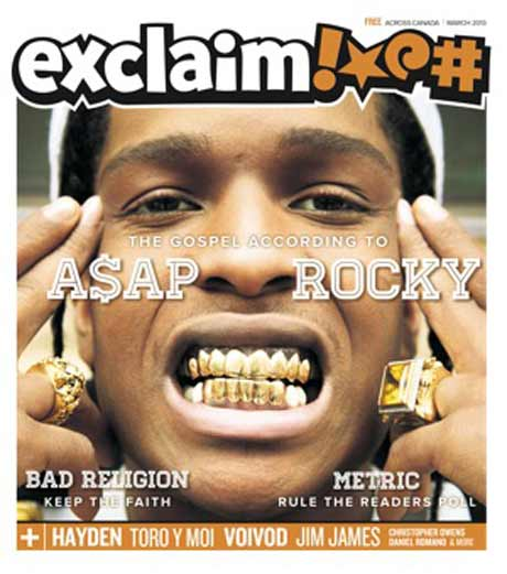 A$AP Rocky, Bad Religion, Jim James, Daniel Romano, Local Natives, Hayden and More Fill Exclaim!'s New Issue