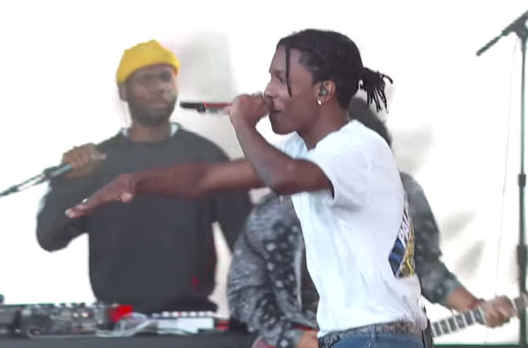 "A$AP Rocky ""Electric Body"" (ft. Schoolboy Q) (live on 'Kimmel')"