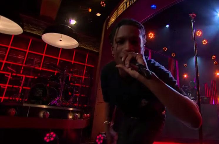 "A$AP Rocky ""Everyday"" / ""Pharsyde"" (live on 'Corden')"