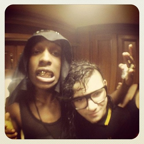A$AP Rocky and Skrillex Team Up in the Studio
