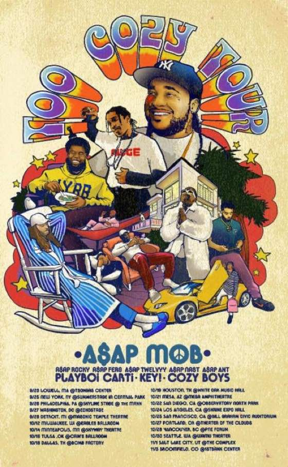 "A$AP Mob to Hit Vancouver on ""Too Cozy Tour"""