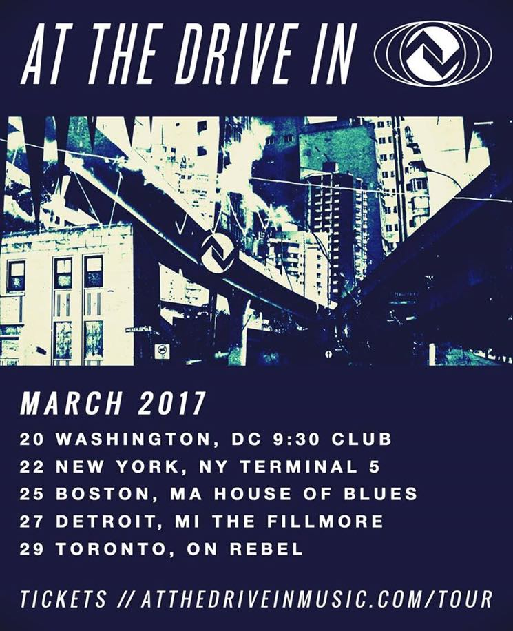At the Drive-In Announce 2017 Tour Dates, Play Toronto