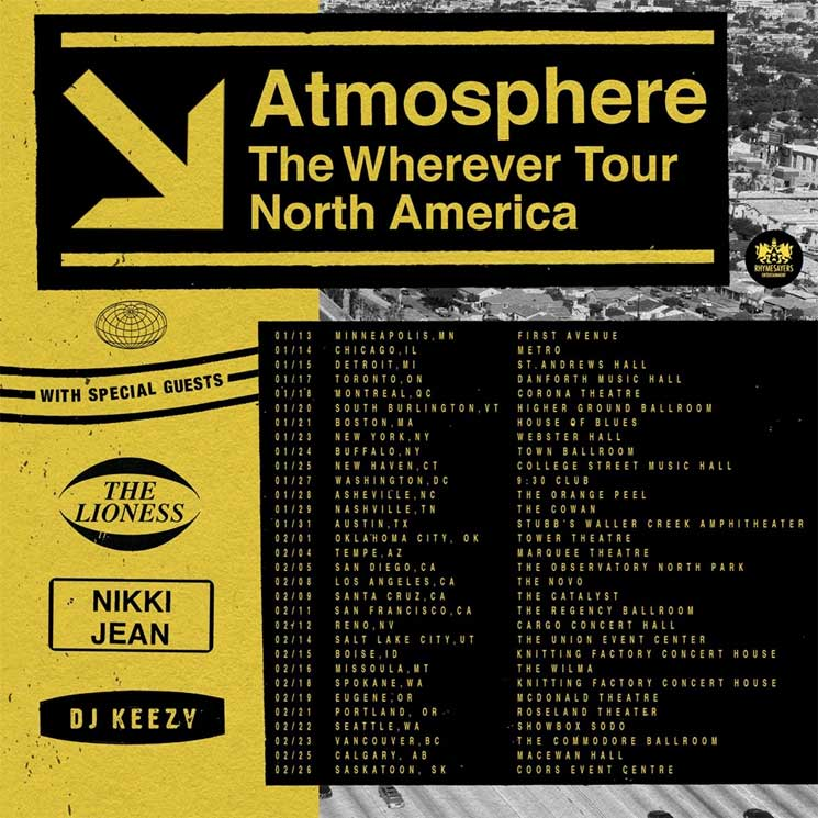 "Atmosphere Are Coming to Canada on ""The Wherever Tour"""
