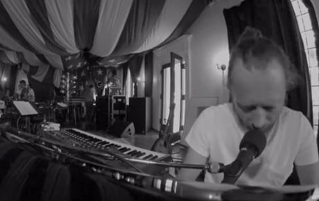 "Atoms for Peace ""Rabbit in Your Headlights"" (rehearsal video)"