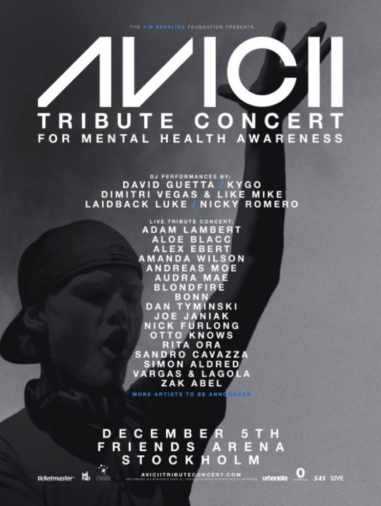 David Guetta, Adam Lambert, Kygo to Perform at Avicii Tribute Concert