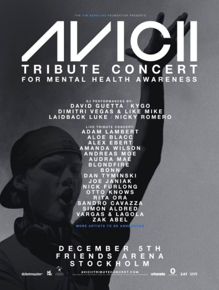 David Guetta, Adam Lambert, Kygo to Perform at Avicii Tribute Concert