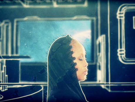 Erykah Badu 'Gone Baby, Don't Be Long' (video) (directed by Flying Lotus)