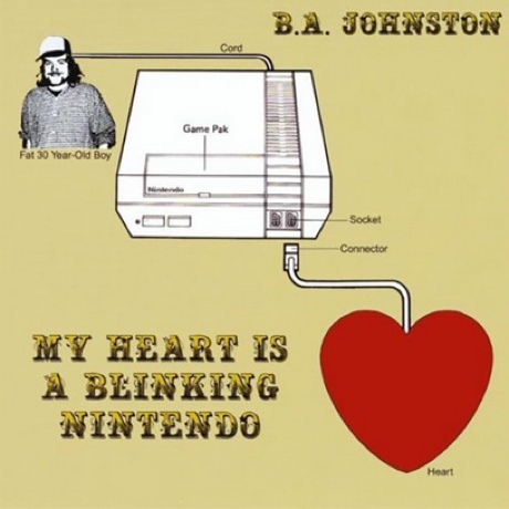 B.A. Johnston Reissues 'My Heart Is a Blinking Nintendo,' Hints at New 'Shit Sucks' LP