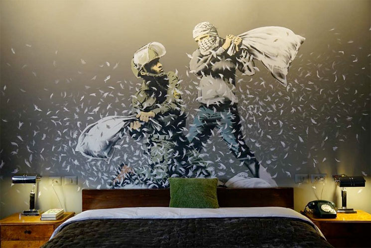"Trent Reznor and Atticus Ross Share ""Green Lines"" from Banksy's Walled Off Hotel"