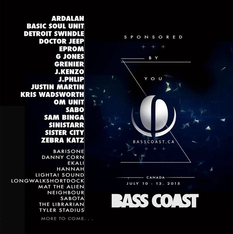 BC's Bass Coast Festival Announces First Wave of Artists