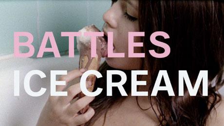 "Battles ""Ice Cream"" (ft. Matias Aguayo) (video)"