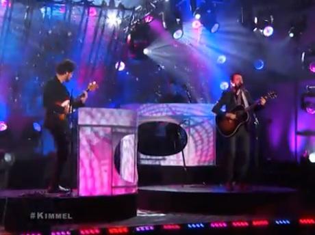 "Broken Bells ""Holding on for Life"" / ""After the Disco"" (live on 'Kimmel')"