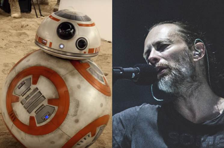 Twitter Is Obsessed with Thom Yorke and BB-8 at the 'Star Wars: The Last Jedi' Premiere
