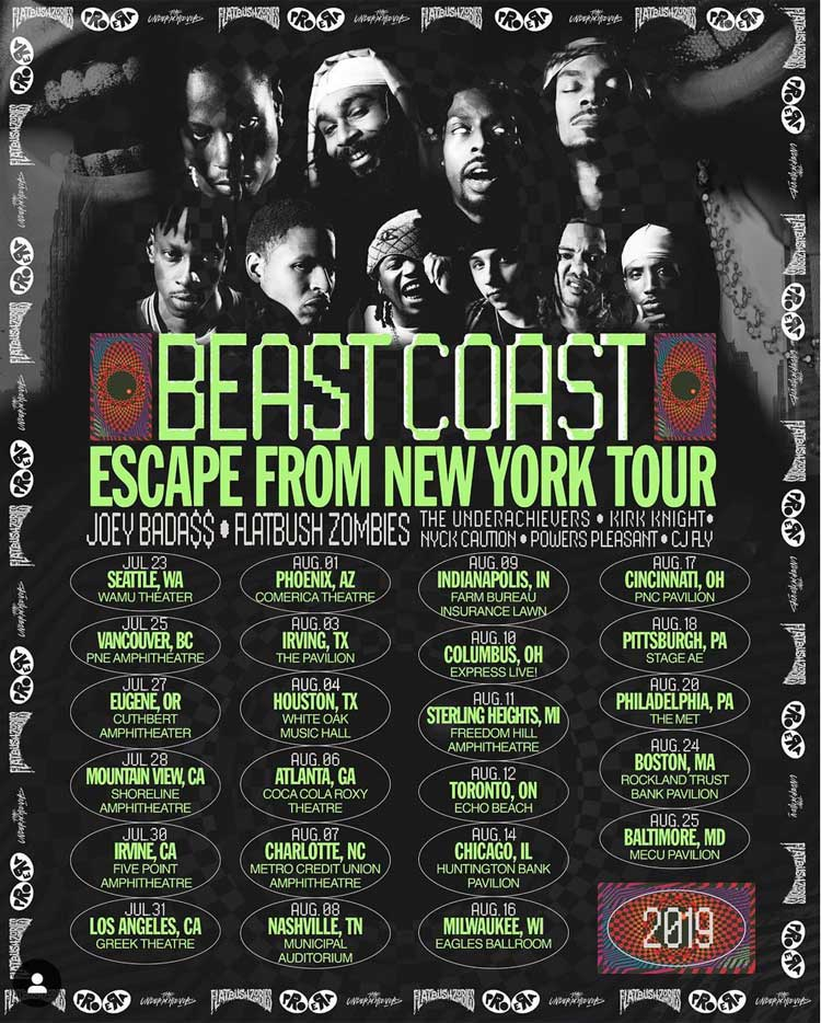 "Flatbush Zombies, Pro Era and the Underachievers Team Up for ""Beast Coast"" Tour"