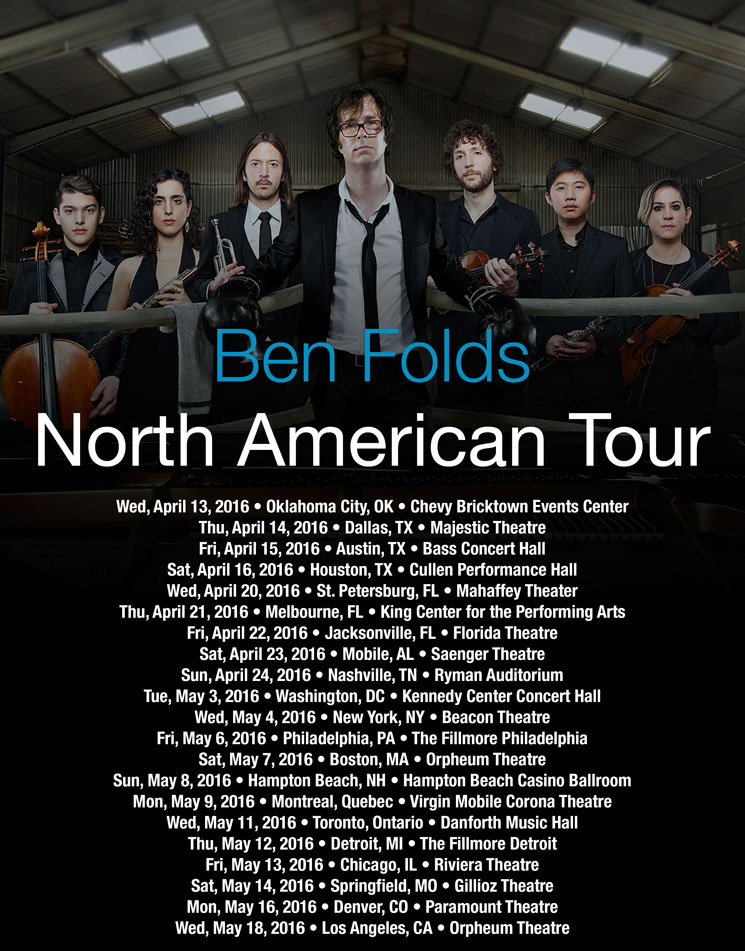 Ben Folds Brings 'So There' to Montreal and Toronto on North American Tour