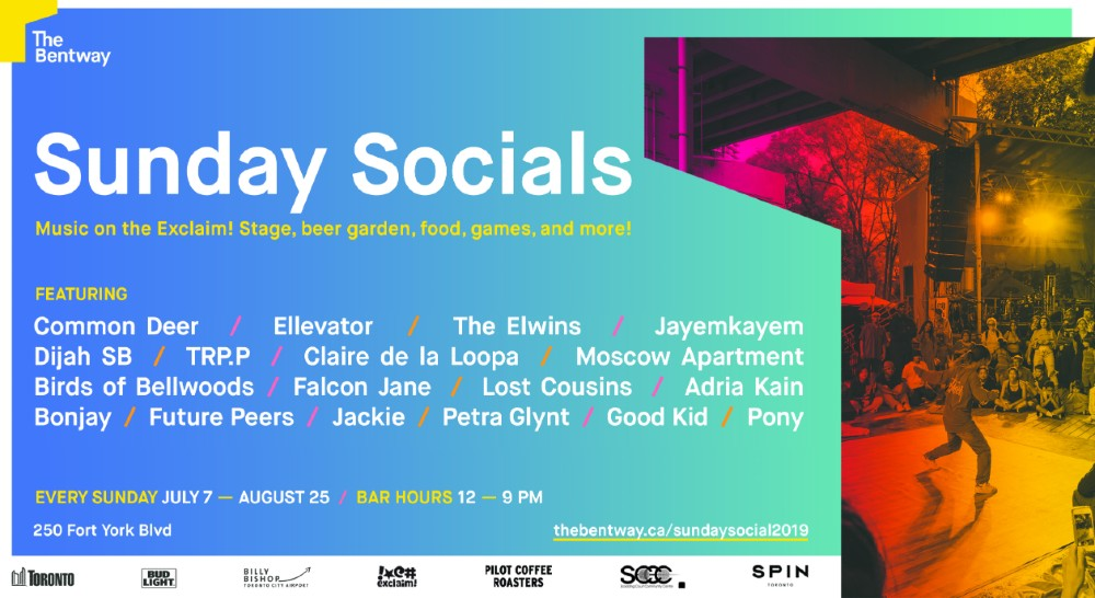The Elwins, Birds of Bellwoods, Bonjay to Play Exclaim! Stage at Toronto's Bentway Sunday Socials