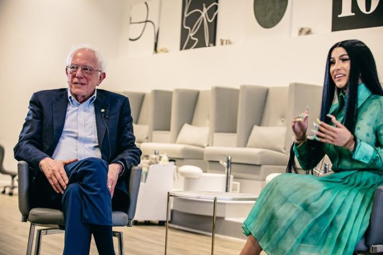 ​Cardi B and Bernie Sanders Sat Down and Talked Politics