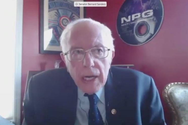 Bernie Sanders Has a Framed RHCP Poster