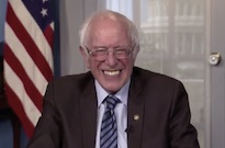 Watch Bernie Sanders React to Those Bernie Sanders Sitting Memes on 'Seth Meyers'