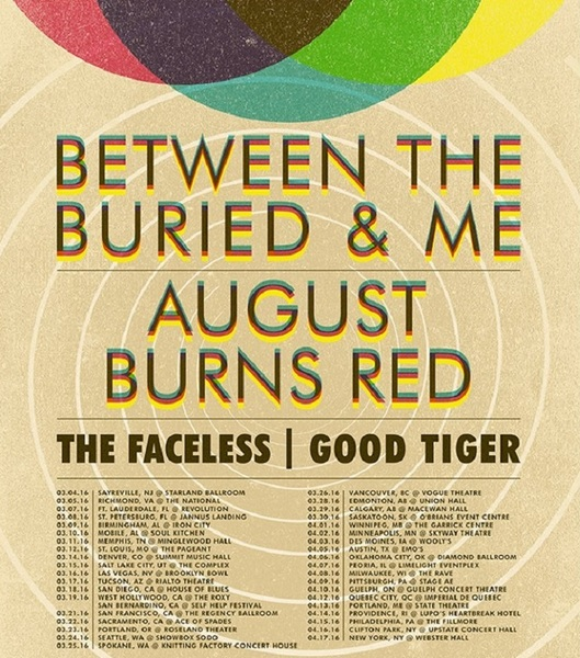 Between the Buried and Me Add 'Coma Ecliptic' Tour Dates with August Burns Red