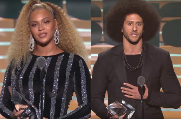 ​Beyoncé Presents Colin Kaepernick with Muhammed Ali Legacy Award