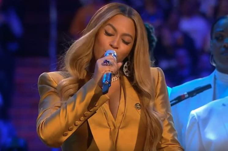 Watch Beyoncé's Performance at Kobe and Gianna Bryant Memorial