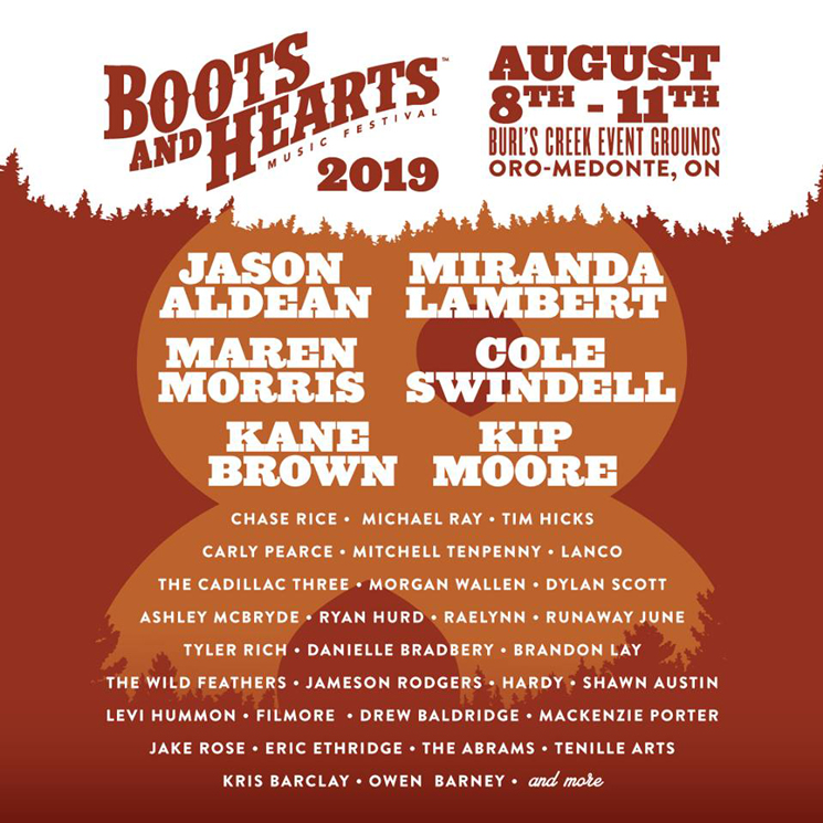 Ontario's Boots and Hearts Festival Unveils 2019 Lineup with Jason Aldean, Miranda Lambert