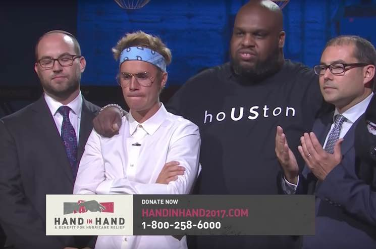 "Justin Bieber, Beyoncé, Drake Turn Up for ""Hand in Hand"" Hurricane Benefit"