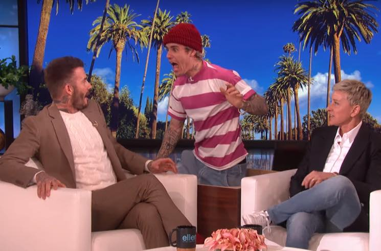 ​Watch Justin Bieber Scare David Beckham on 'Ellen'