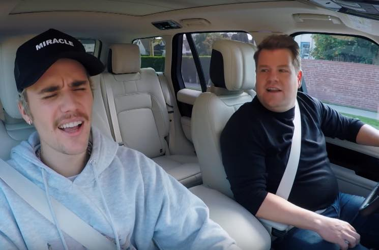 ​Watch Justin Bieber and James Corden Pretend to Drive Around on 'Carpool Karaoke'
