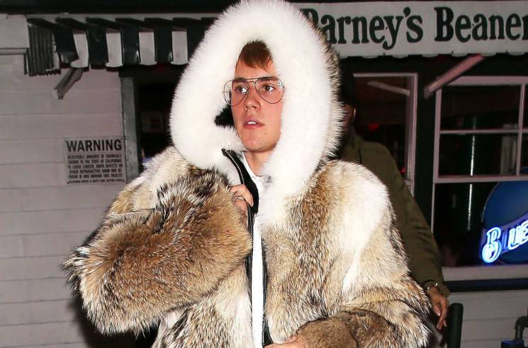 PETA Condemns Justin Bieber's Ridiculous Fur Coat