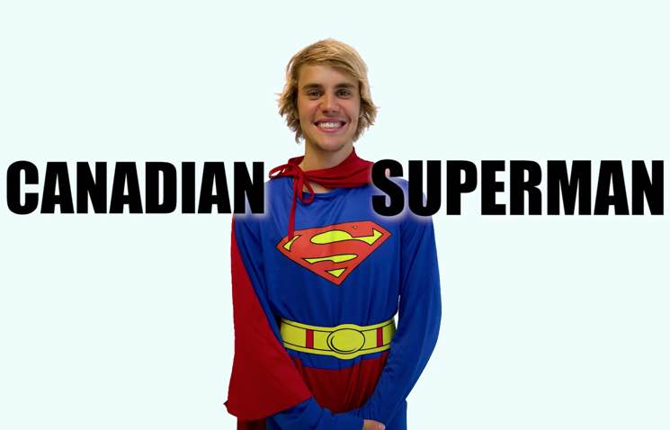 "​Watch Justin Bieber Play a Canadian Superhero in ""Racist Superman"" YouTube Sketch"