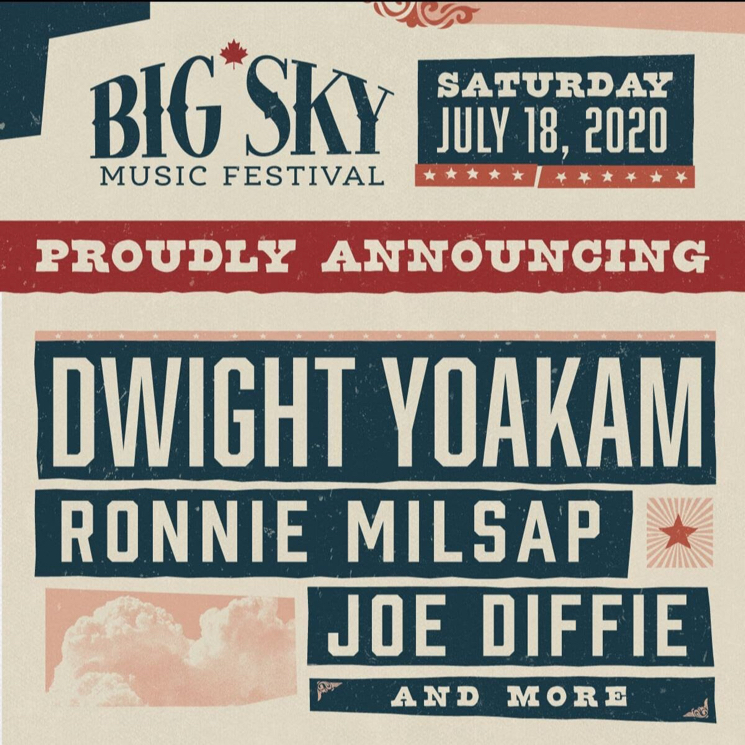 Ontario's Big Sky Music Festival Unveils Initial Lineup with Dwight Yoakam, Ronnie Milsap, Joe Diffie