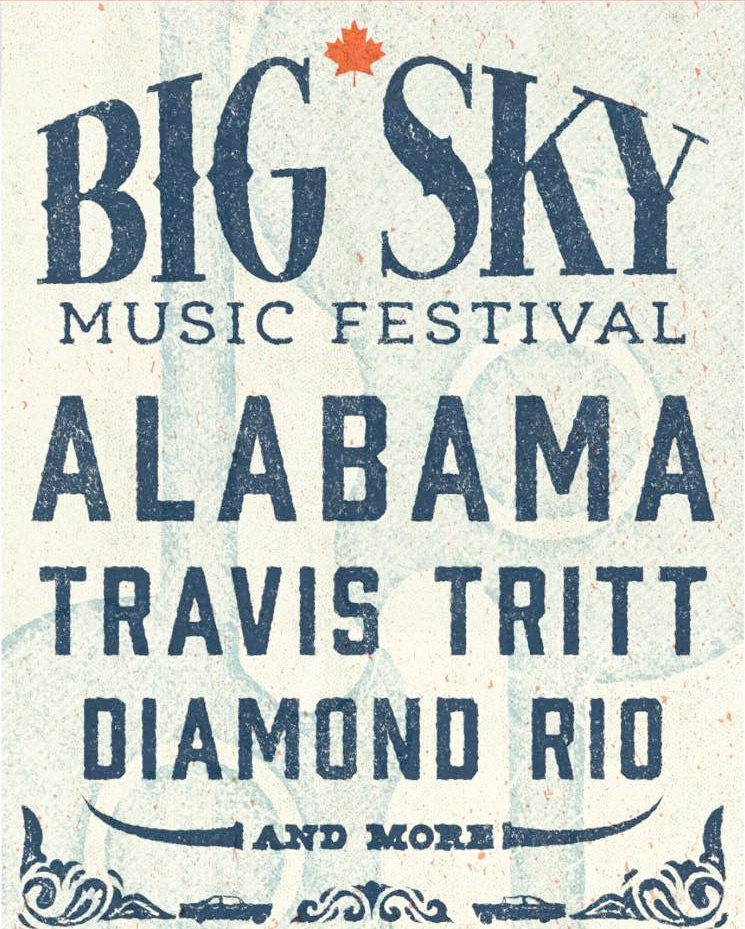 ​Big Sky Music Festival Brings Alabama, Diamond Rio and Travis Tritt to Oro-Medonte