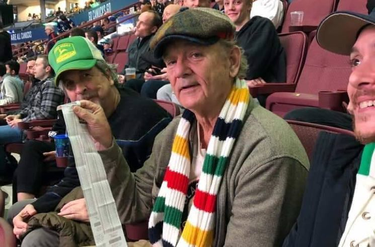 Bill Murray Was at the Vancouver Canucks Game Last Night