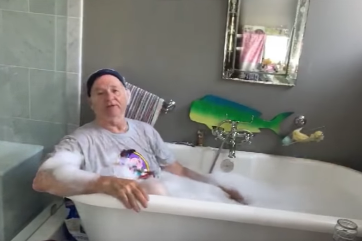Watch Bill Murray Take a Bath on 'Kimmel'