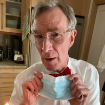 Bill Nye Demonstrates the Effectiveness of Wearing a Mask