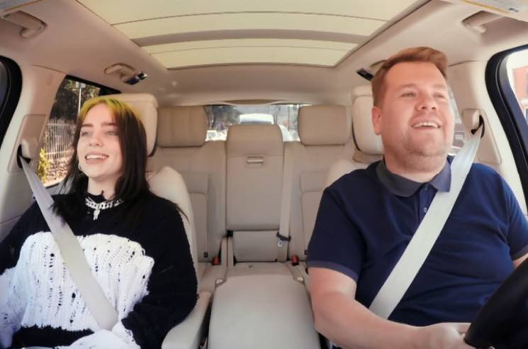 "​Watch Billie Eilish Sing Beatles, Justin Bieber Songs on ""Carpool Karaoke"""